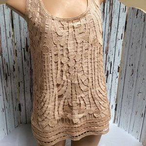 Express embroidered lace tank